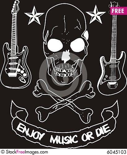 Free Enjoy Music Or Die Stock Photos - 6045103