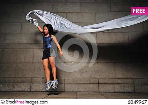 Free Girl In Motion 4 Royalty Free Stock Photography - 6049967