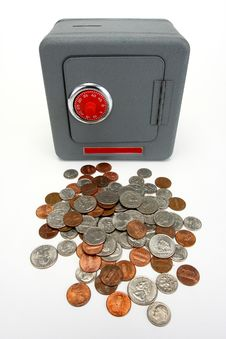 Free Combination Safe With Coins Stock Photo - 6040560