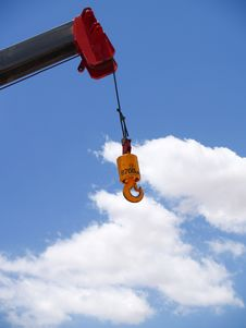 Free Crane Hook - Vertical Royalty Free Stock Images - 6040619