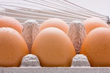 Free Eggs And Whisk Royalty Free Stock Images - 6040989