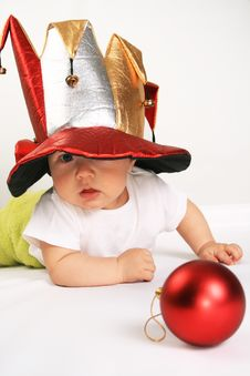 Free Small Boy In The Hat Of Jester Stock Photo - 6041300