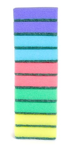 Free Ten Colored Sponges Royalty Free Stock Images - 6042229