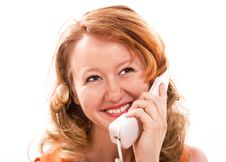 Free Girl Talking On The Phone Royalty Free Stock Images - 6042249
