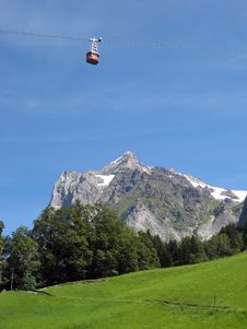 Free Cable Car In Grindelwald Stock Photo - 6042290