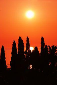 Orange Sunset Royalty Free Stock Photo