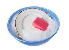 Free Dishware Washing Stock Image - 6042641