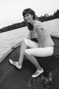 Free Girl On A Boat Royalty Free Stock Photography - 6042947