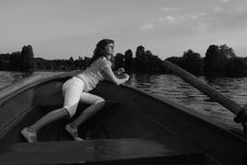 Free Girl On A Boat Royalty Free Stock Photo - 6042965
