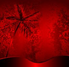 Free Abstract Red Design With Palm Royalty Free Stock Photo - 6043725