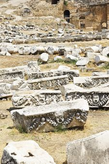Free Ruines Of Ancient City Hierapolis Turkey Stock Photos - 6044153