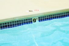 Free Nine Foot Swimming Pool Water Marker Stock Photography - 6044232