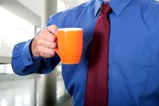 Free Morning Coffee At Work Royalty Free Stock Photo - 6044445