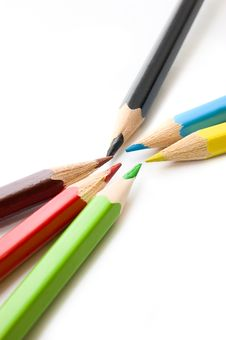 Free Colorful Pencils Royalty Free Stock Photos - 6044788