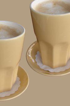 Free Two Cafe Latte Royalty Free Stock Photos - 6044968