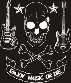 Free Enjoy Music Or Die Stock Photos - 6045103