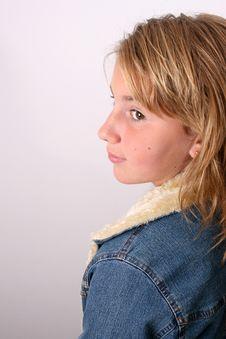 Free Profile Of Teenage Model Stock Photo - 6045610
