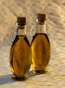 Free Olive Oil In Small Bottles Royalty Free Stock Photo - 6045855