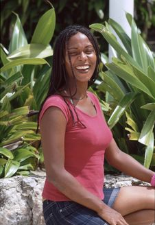 Free Caribbean Lady Laughing Stock Images - 6046714