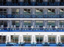Cruise Liner S Balconies Royalty Free Stock Photos