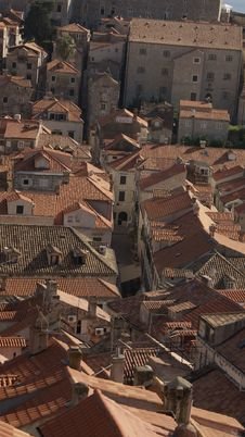 Over Dubrovnik Stock Photography