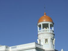 The Blue Palace Dome, In Cienfuegos Stock Image