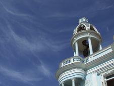Blue Building Dome Closeup Stock Image
