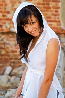 Free Young Woman In White Hood Stock Photo - 6049370