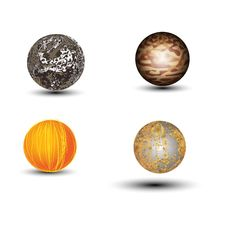 Free Sets Globe Texture Royalty Free Stock Images - 60411149