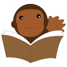 Free Icon Monkey Reading A Book Stock Photo - 60413470
