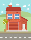 Free Colorful Flat House Stock Photos - 60444283
