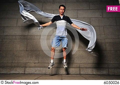 Free Man In Motion 3 Royalty Free Stock Image - 6050026