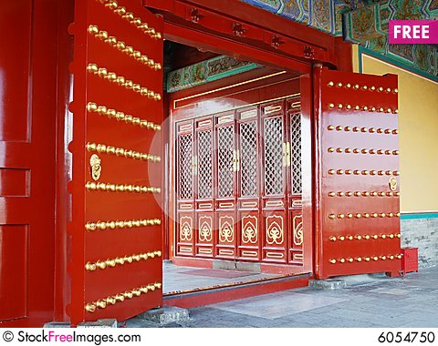 Red door in chinese temple & Red Door In Chinese Temple - Free Stock Images \u0026 Photos - 6054750 ...