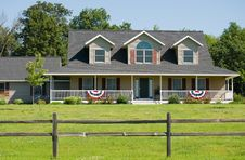 Free Modern American Home Royalty Free Stock Photo - 6050525
