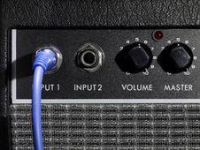 Free Amplifier Potis Input Stock Image - 6052671