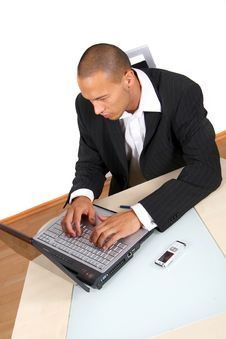 Working With My Laptop Royalty Free Stock Photo