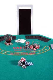 Free Poker Table Royalty Free Stock Photo - 6053115