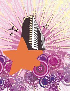 Cityscape Grunge Background Royalty Free Stock Image