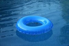 Blue Inflatable Wheel Stock Photography