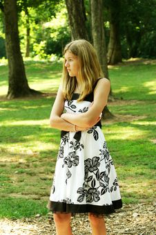 Free Teen In A Dress Royalty Free Stock Image - 6056186