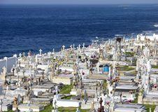 Cemetery By The Sea Stock Photos