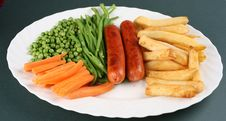 Free Sausage And Chips Royalty Free Stock Images - 6056809