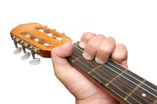 Free Guitar Isolated Over A White Background Royalty Free Stock Image - 6057236
