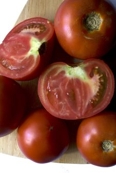 Free The Tomatoes On The Table Royalty Free Stock Image - 6057396