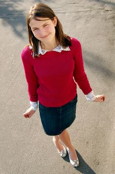 Free Girl In Red Pullover Stock Image - 6058031