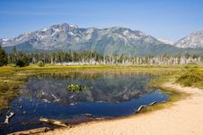 Free Mountain Reflection In Pond Royalty Free Stock Images - 6058599