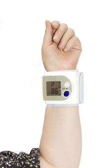 Free Wrist Blood Pressure Monitor Stock Photography - 6058752