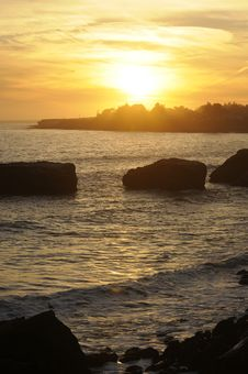 Free Sunset On The California Coast Royalty Free Stock Images - 6058799