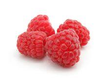 Free Three Raspberry Berries Isolated Stock Images - 6059044
