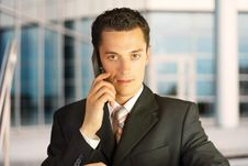 Free Businessman Outside A Modern Building. Stock Photo - 6059730